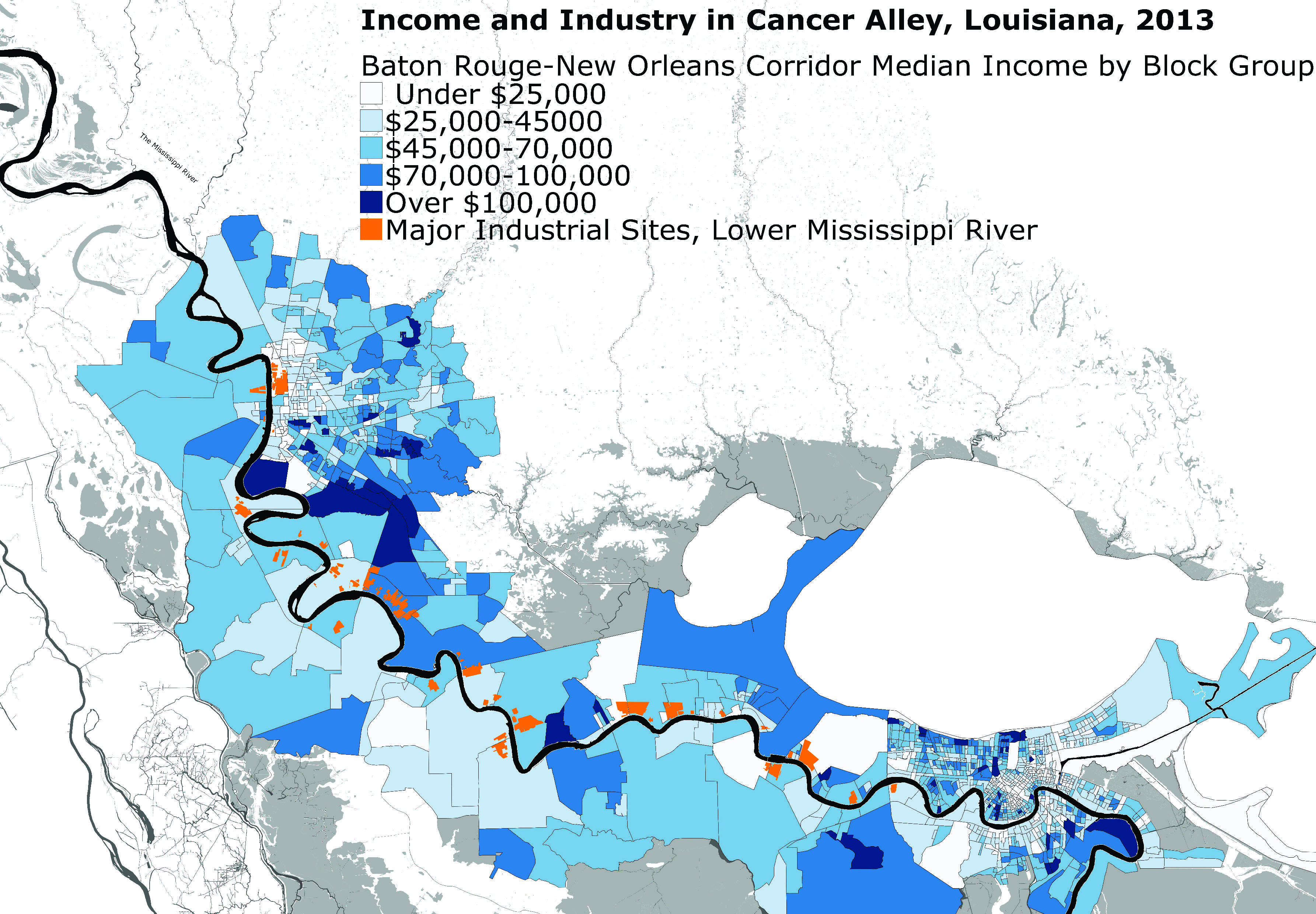 alley louisiana map Louisiana S Most Unpopular Attraction Cancer Alley Lieutenant alley louisiana map